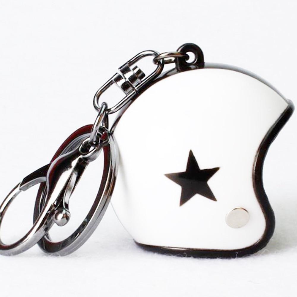 VEHEMO шлем 4,5*4,2 см автомобильные ключи Висячие капли брелок аксессуары Ювелирные наборы автомобильные запчасти - Название цвета: white black