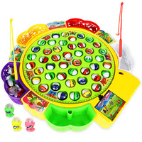Fun Fishing Game Electric Rotating Magnetic Magnet Fishing Toy Kid Educational Toys games for boys and girls toys for children