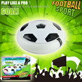 Funny Air Power Soccer Disc Multi-surface Hovering Gliding Toy Indoor Soft Foam Floating Led Light Up Flashing Music Football