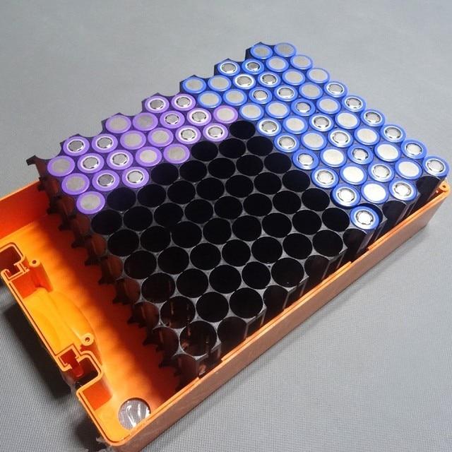 4Pcs/lot 18650 battery holder Cylindrical cell 2*10 plastic holder 18650 lithium ion battery bracket plastic case Wholesale