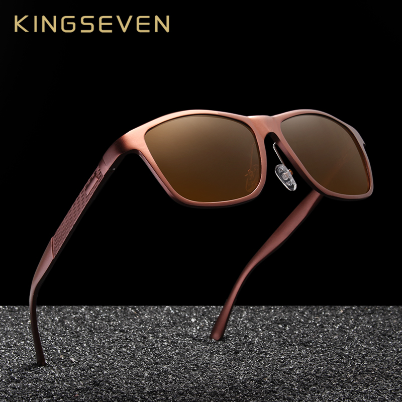 KINGSEVEN Retro In Alluminio Magnesio Occhiali Da Sole Polarizzati Delle Donne Dell'annata Occhiali Da Sole di Guida Degli Uomini Occhiali Accessori