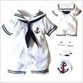 Лето одежда, Новорожденный, Мальчик одежда, Морской синий стиль одежда, Мальчик ползунки, Младенцы в целом, Bebe, Младенцы боди