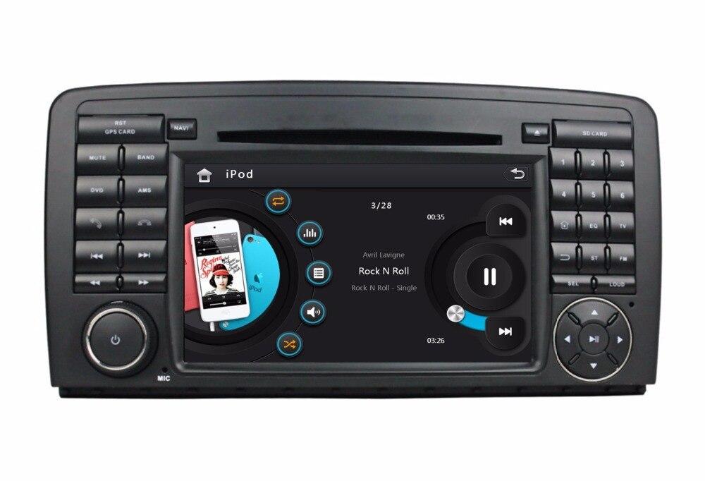 HD 2 din 7″ Car DVD Player for Mercedes Benz R Class W251 W280 W300 W320 W350 W500 With Radio GPS Bluetooth TV SWC AUX IN USB