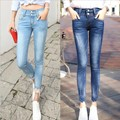 Size 26-32 Spring Summer Women Skinny Ankle-length Jeans Vintage Denim Trousers Elastic Pencil Pants Abnormal Leg Tail