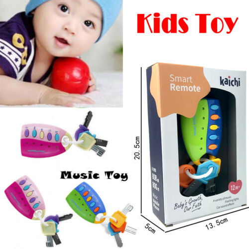 Hot Kids Educational Musical Toy Colorful Flash Sounds Remote Car Voices Car Key Pretend Play Toys For Baby Musical Car Key Toy