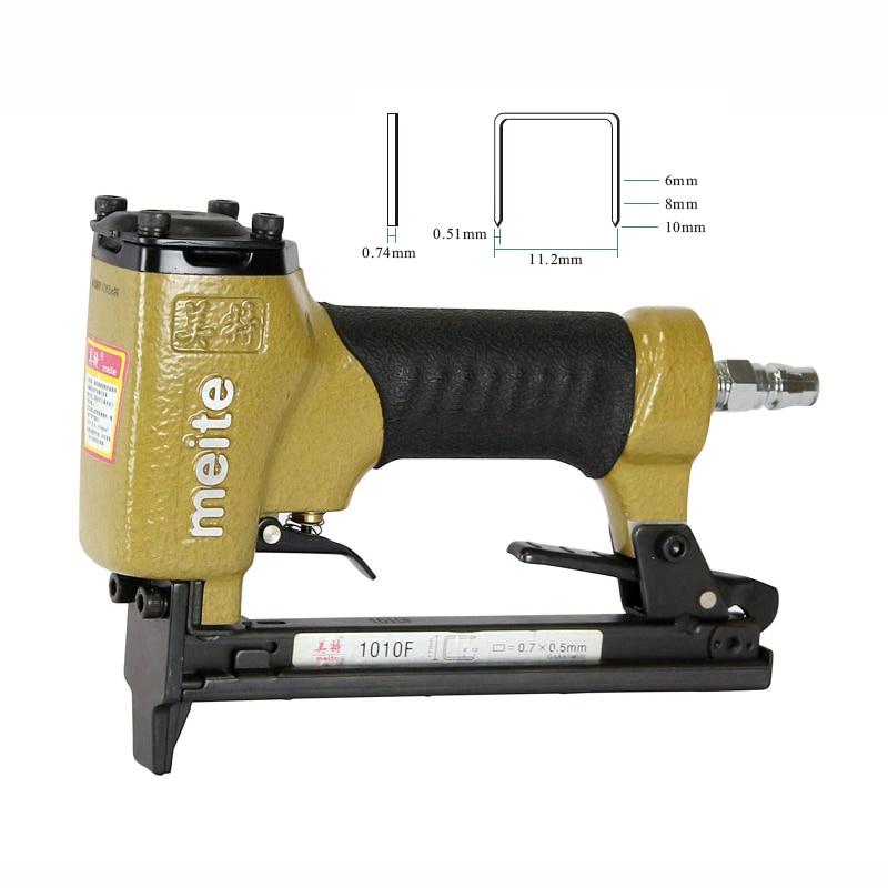 High Quality Pneumatic Nailer Gun Air Stapler Nail Gun Tools 1010F 1pc air stapler 2 in 1 combination f5040 a pneumatic air nailer gun 2pcs pistons for pneumatic stapler nail gun woodworking tool
