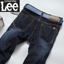 New 2016 Autumn Winter Fashion Mens Straight Slim Casual Jeans Mens Dark Blue Thick  Jeans Pants Men Cotton Trousers 2020