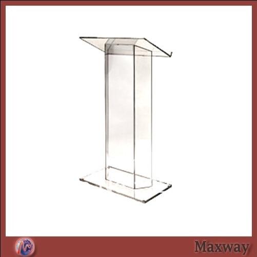 Transparent Acrylic School Lectern Plexiglass