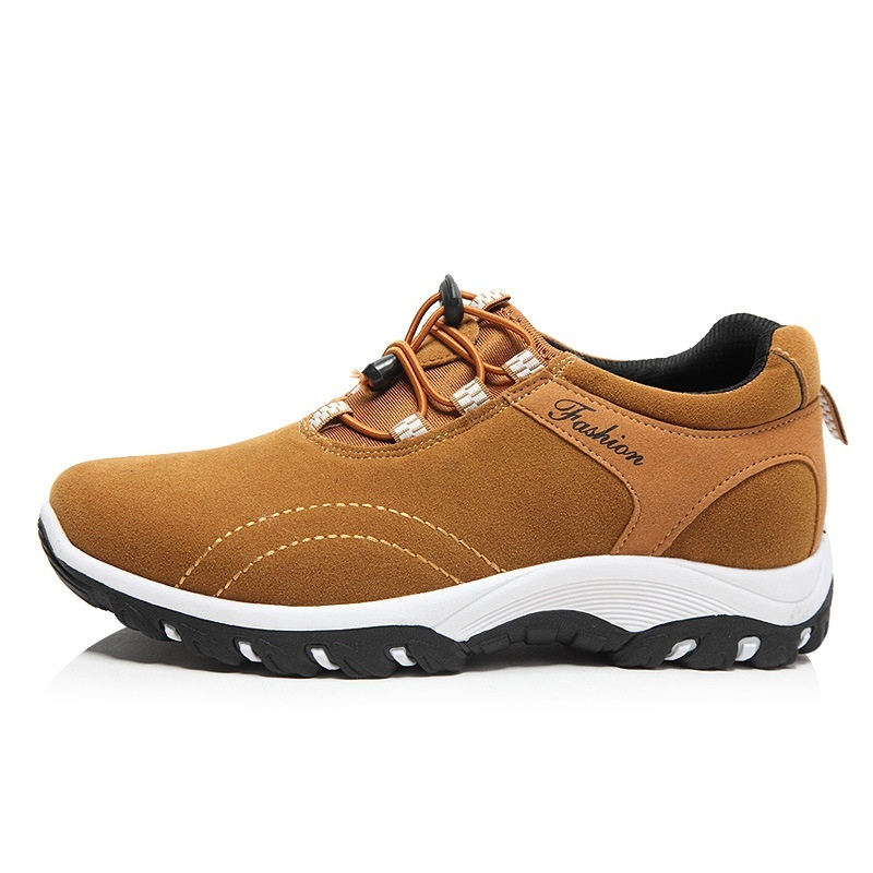 Hiking Boots Men Comfortable Walking <font><b>Shoes</b></font> Lightweight Sneakers Black Footwear Men Lace Up Running <font><b>Shoes</b></font> image