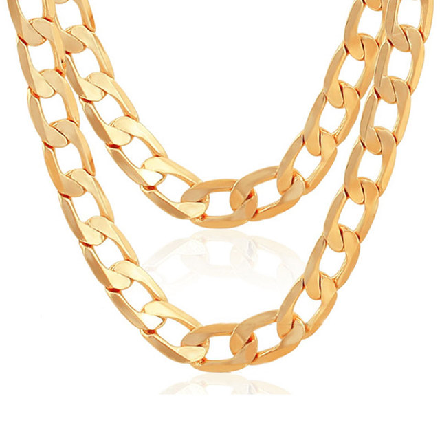cuban go solid necklace products link grande yellow miami chain gold