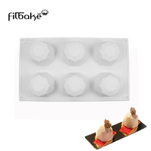 FILBAKE New Hot Chocolate Moolds 6 With Diamonds Silicone Mold Mousse Model DIY Baking Candy Tools Chiffon Cake
