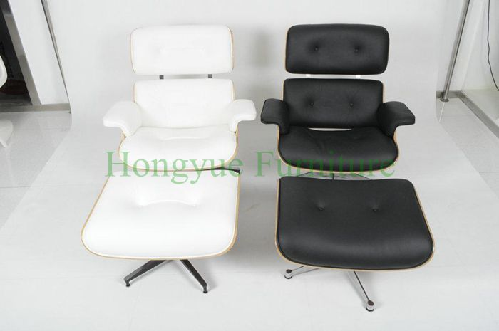 Modern lounge chair with ottoman cowhide leather bentwood frame madrid lounge chair
