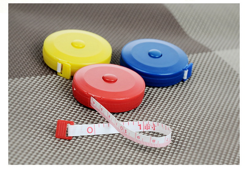 by dhl 200pcs 150CM Measuring Tape Measure Retractable Metric Belt Colorful Portable Ruler Centimeter Inch Children