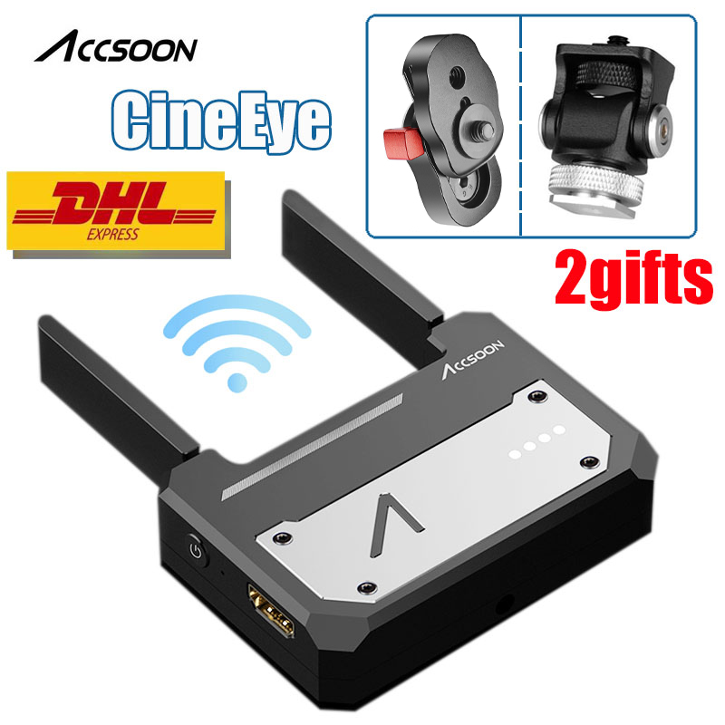 Em Estoque Accsoon CineEye 5G Dispositivo Sem Fio WiFi 1080 p HDMI Transmissor de Vídeo Transmissor Para iPhone IOS para iPad andriod Telefone