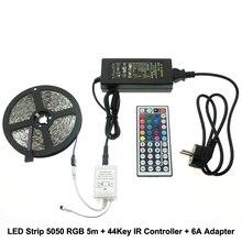 Здесь можно купить   L3-RGB LED Strip 5050 5m + IR 44Key Controller + DC12V 6A Adapter Flexible LED Light RGB Sets. LED Lighting