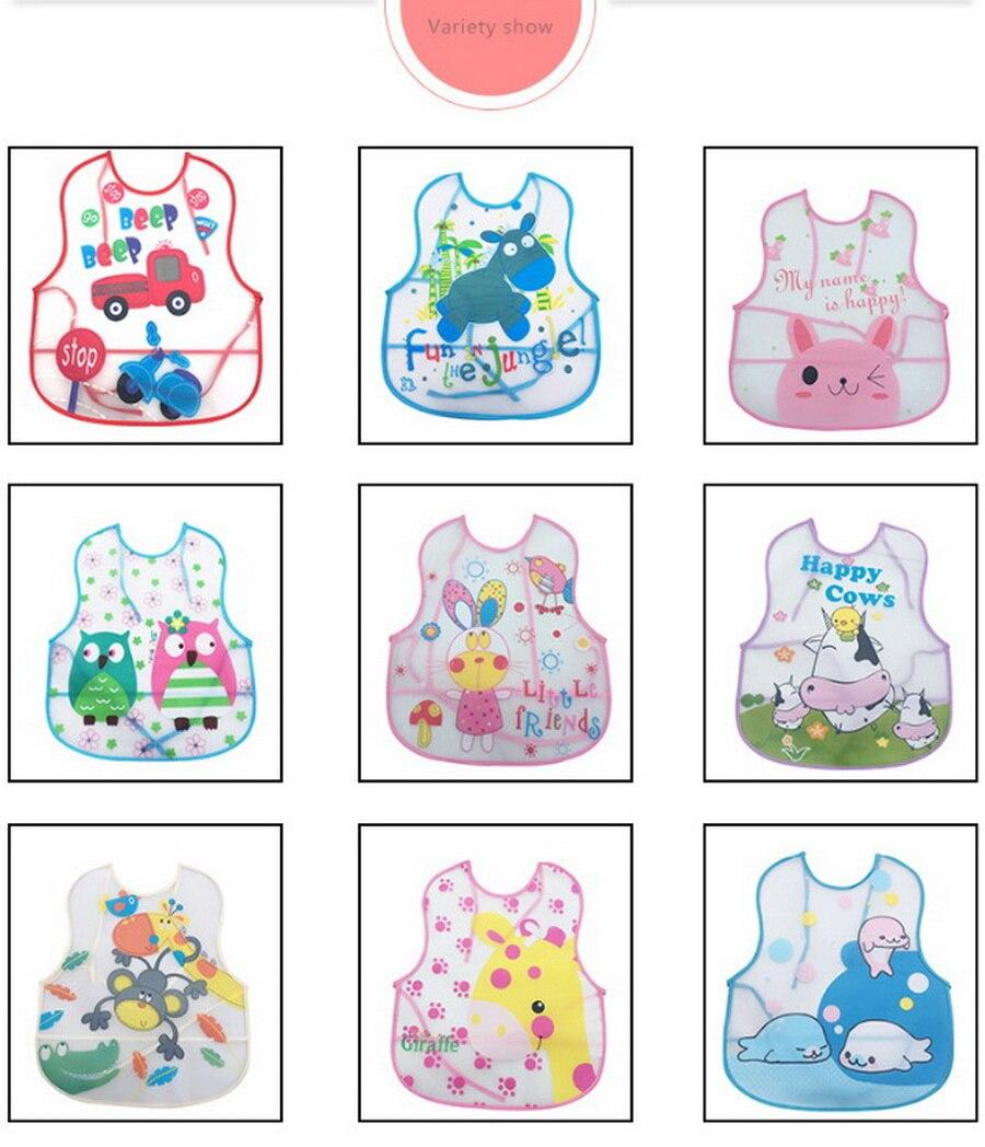 Mother & Kids Bibs & Burp Cloths Radient Dhl 500pcs Baby Bibs Toddler Baberos Bavoir Waterproof Long Sleeve Apron Cartoon Animals Children Feeding Smock Bib Baby Stuff Distinctive For Its Traditional Properties