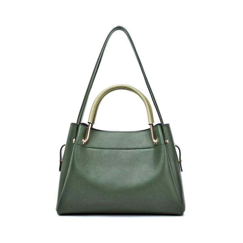 Genuine Leather Tote Bags Women Soft Cow Leather Shoulder Bag Genuine Leather Luxury Handbags Elegant P126