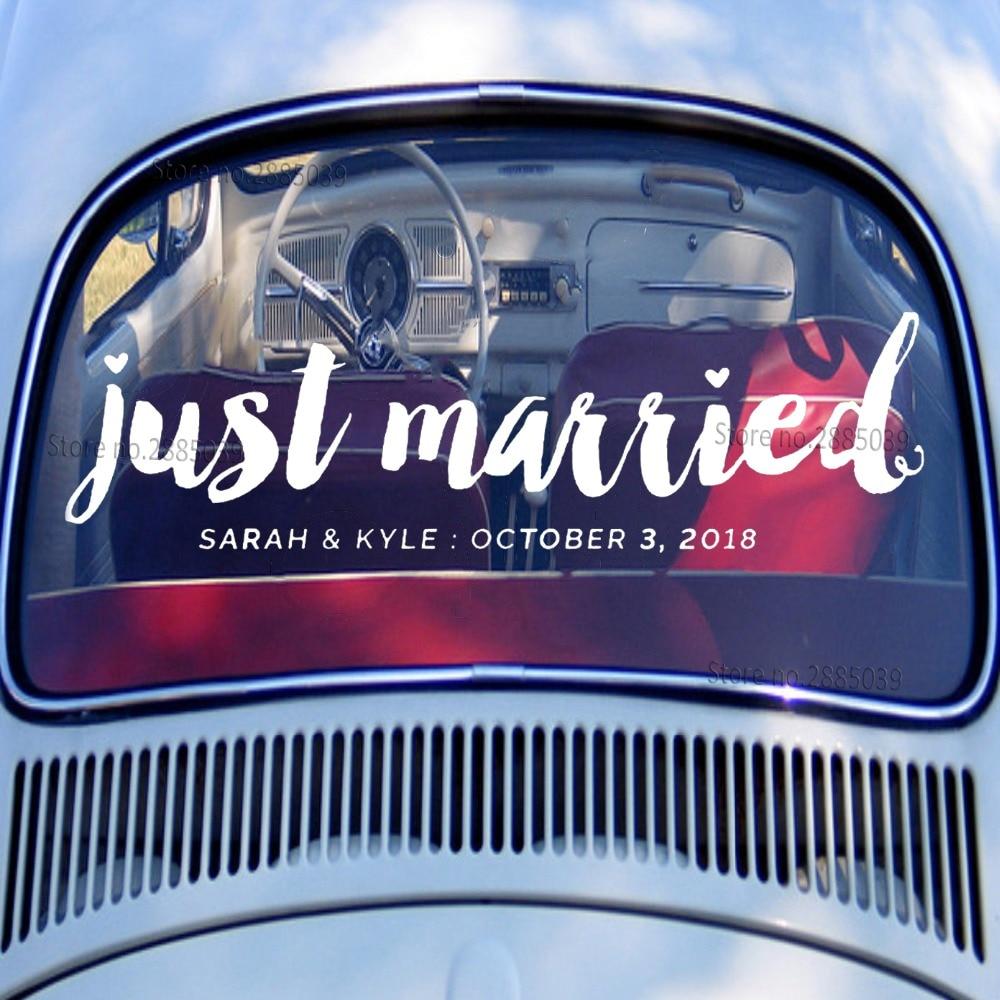 5615cm just married decal wedding vinyl stickers modern fashion wedding car window art decor custom wall decals hot sale lc310