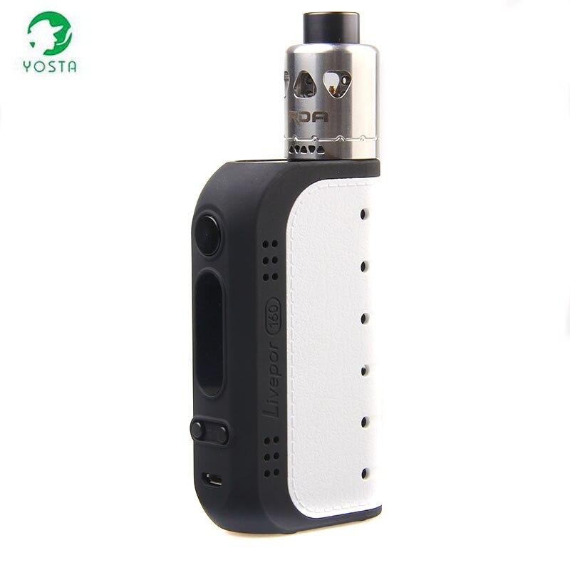 лучшая цена 100% Original Yosta Livepor 160w RDA Kit Electronic Cigarette 160w Livepor box mod and IGVI RDA TANK Vape Kit