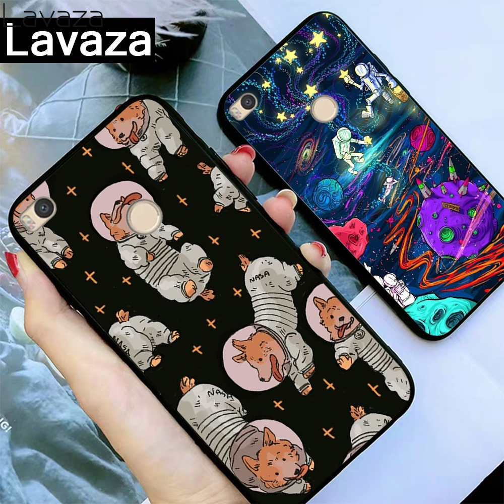 Lavaza Astronaut Fox Space Moon Universe Foxes Silicone Case for Xiaomi Redmi 4A 4X 5A S2 5 Plus 6 6A Note 4 Pro 7 Prime Go in Fitted Cases from Cellphones Telecommunications