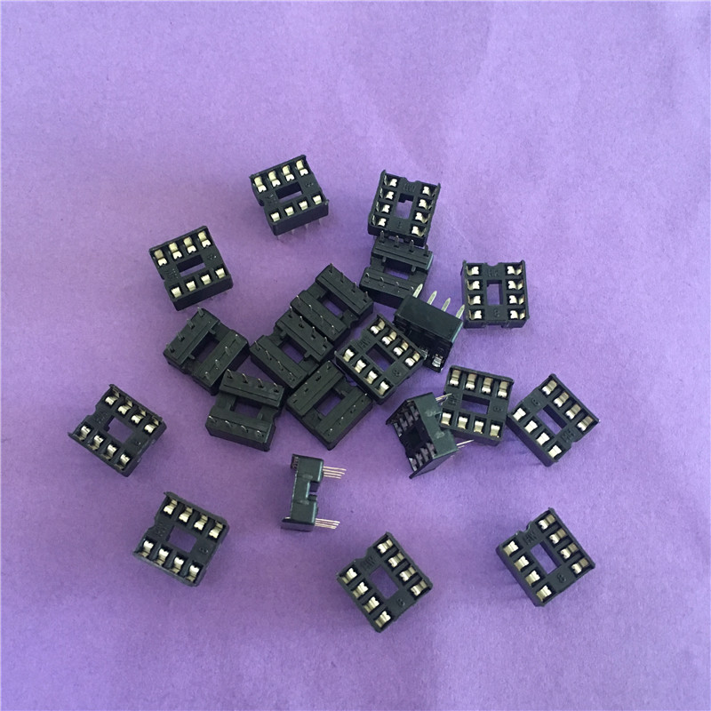 20PCS ST079Y  8 Pin DIP8 IC Sockets Adaptor Solder Type IC Connector Chip Base High Quality On Sale 60pcs lot 8 pin dip square hole ic sockets adapter 8pin pitch 2 54mm connector