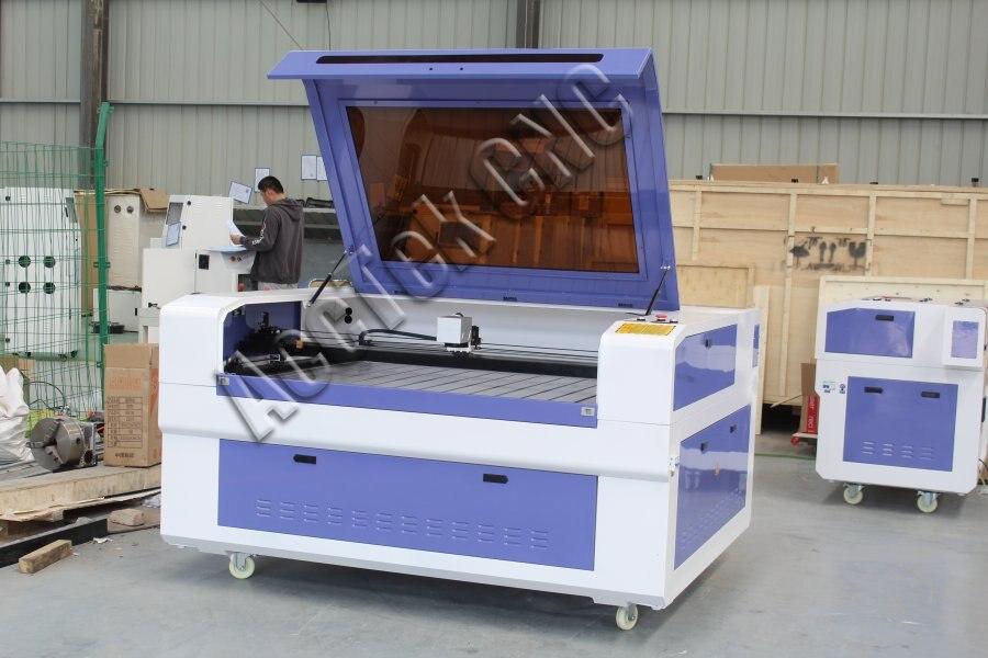 90w CNC CO2 máquina de marcado láser AKJ1390C mesa de aluminio para papel no metálico
