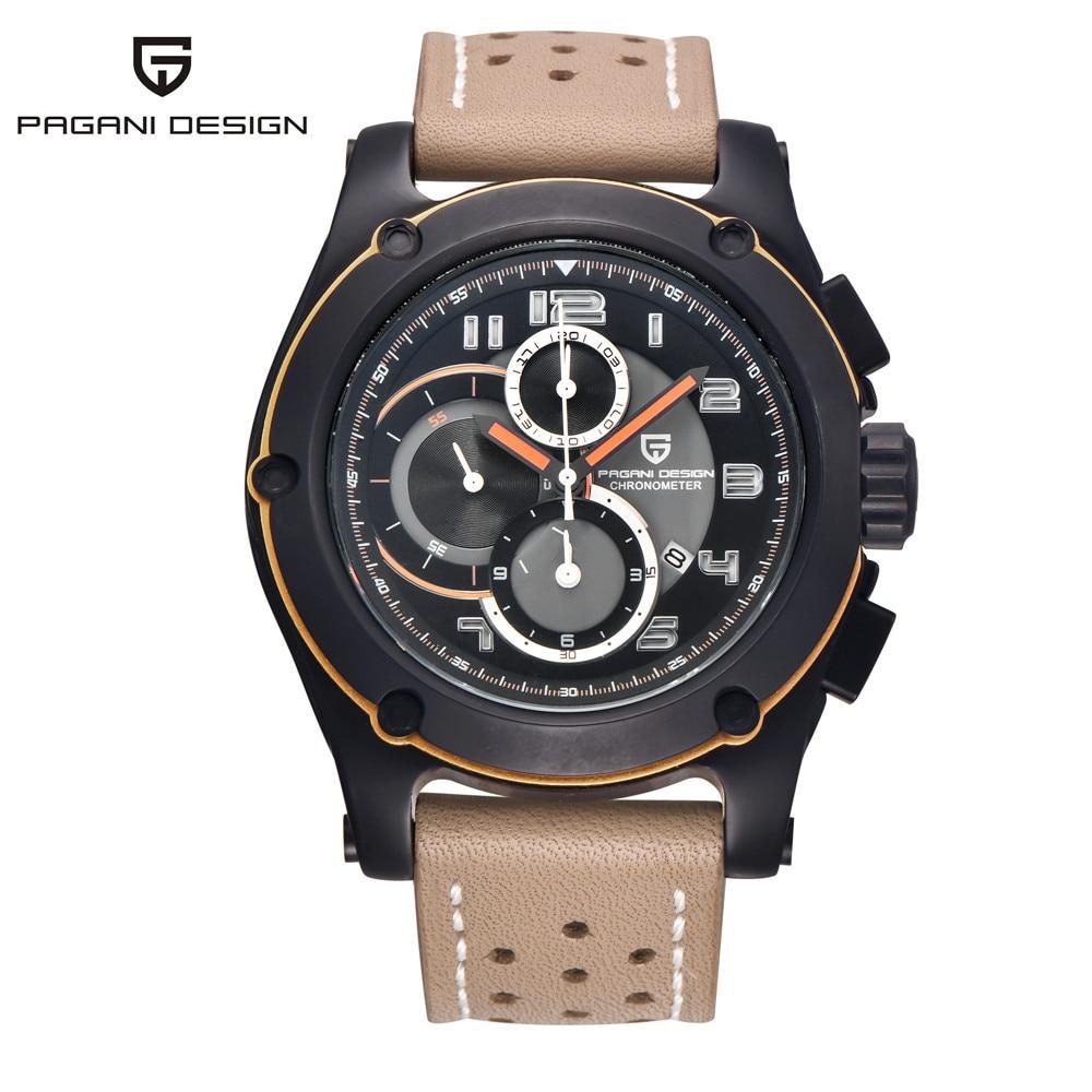Pagani Design Genuine Men Watches Analog Quartz multi-functional Sport Watch Luxury Brand Wristwatches relogio masculino