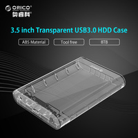 ORICO Transparent 3 5 Inch HDD Enclosure Case USB 3 0 5Gbps To SATA3 0 Support