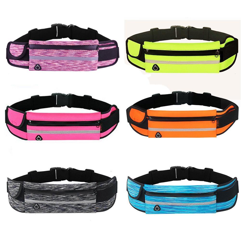 Portable Waist Packs Bag Outdoor Multifunctional Zipper Ultrathin Pockets SBR Waterproof Bum Bag Pouch Belt For Travel