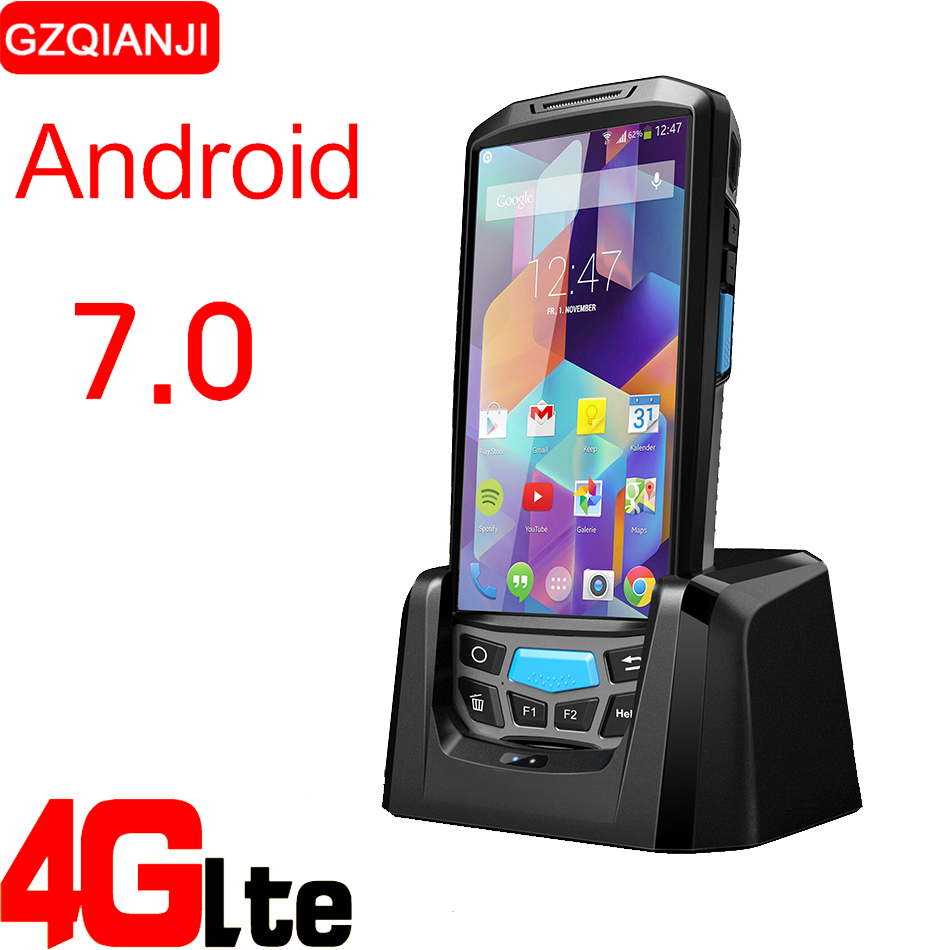 цена на Smart Mobile Phone Handheld terminal pda with bluetooth 4.0 3g 4g Android Barcode reader 1D 2D QR with 8MP camera GPS NFC option