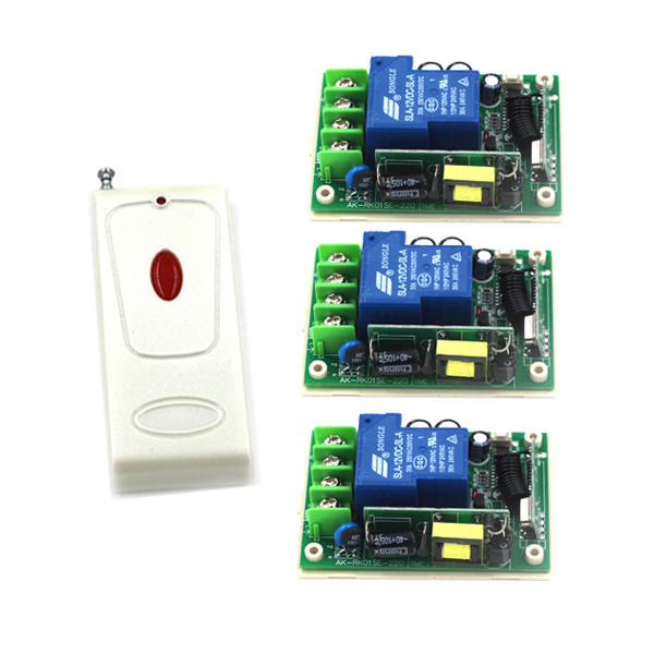 AC 85V-250V 110V Remote Control Switch 1CH 30A Relay Receiver LED Lamp Light Remote ON OFF Wireless Switch 315/433 SKU: 5540 220v 1ch rf wireless remote switch wireless light lamp led switch 4 receiver 4 transmitter 315 433 remote on off controller