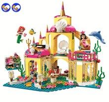 цена на 2016 New SY374 400Pcs Princess Undersea Palace Model Building Kits Minifigures Blocks Bricks Girl Toy Gift Christmas gift