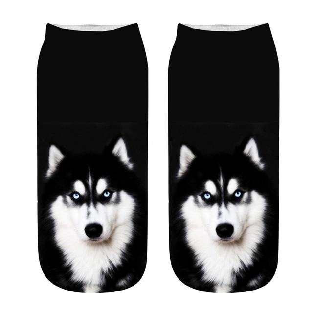 Unisex Cotton Funny 3D Dogs Printed Socks