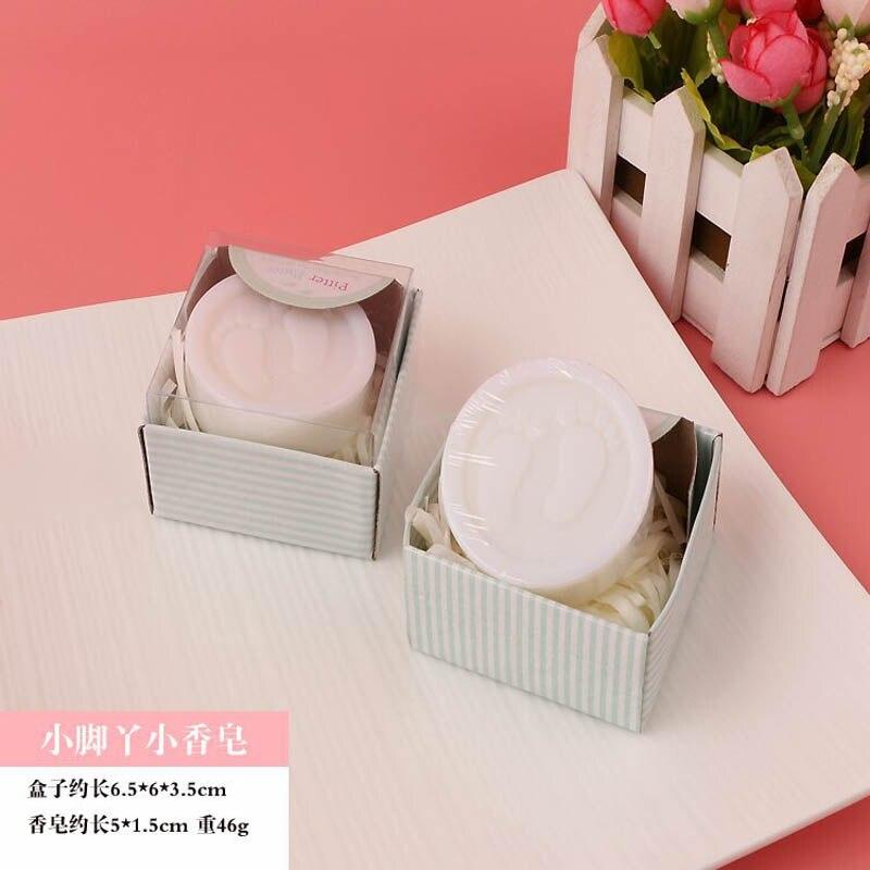 20 шт./лот мини-мыло ручной работы с ароматом для сувенир для свадебной вечеринки и детского душа подарок Свадебные сувениры Мыло для купания - Цвет: footprint