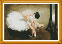 A ballerina Cross Stitch Kit Home Decorative 11CT 14CT DMC Chinese Embroidery Needlework Easy DIY Cross stitch set Paintings