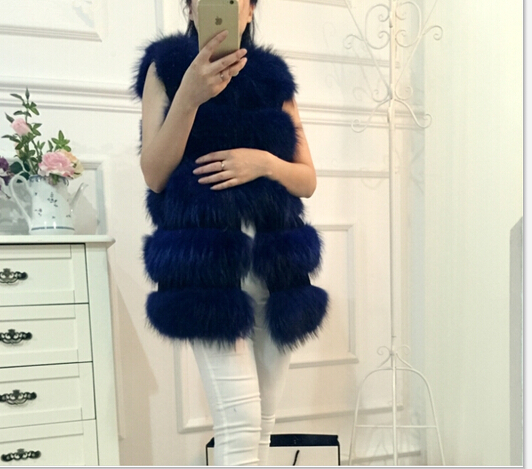 Natural Raccoon Fur Jacket Woman Real Fur Coat For Women's Genuine Furs Vests Waistcoat