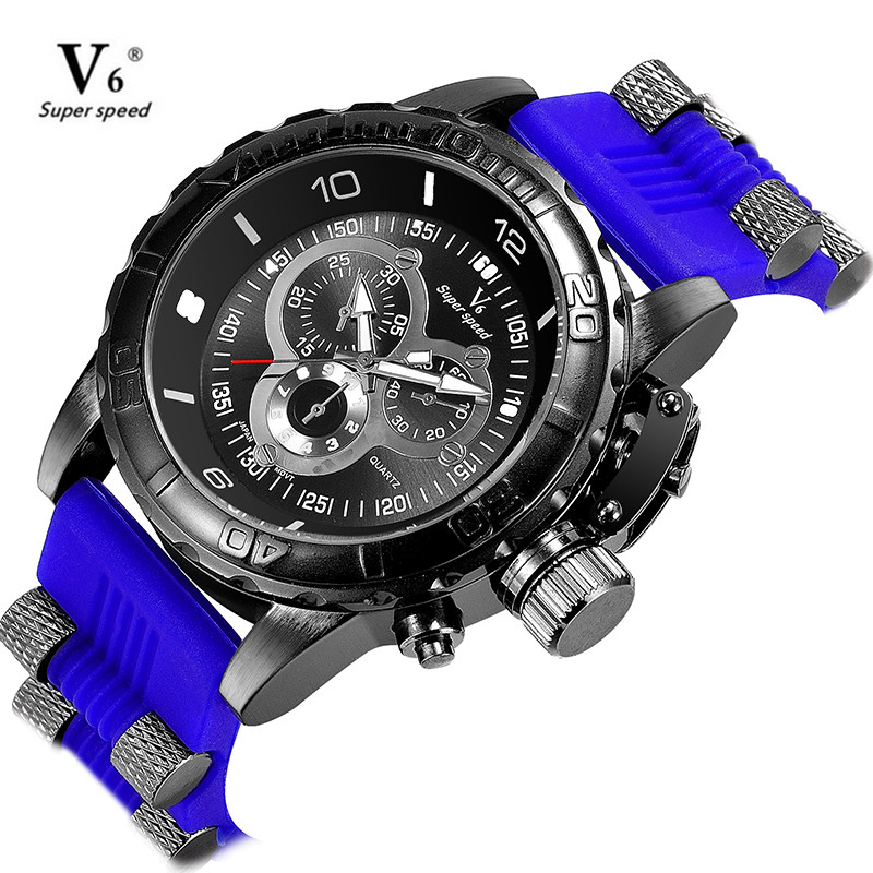 V6 Fashion Sports Mens Watches Top Brand Luxury Waterproof Quartz Watches for Men Casual Silicone Straps Wristwatch relogios free drop shipping 2017 newest europe hot sales fashion brand gt watch high quality men women gifts silicone sports wristwatch