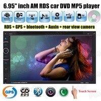 6.95 дюймов TF карты ауксина сенсорный экран GPS 2 DIN dvd-плеер автомобиля mp5 USB громкой связи Bluetooth FM/AM RDS 10 языки USB