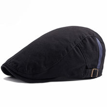HT1579 2018 New Fashion Men Women Beret Caps Solid Plain Newsboy Flat Cap Hats for Korea Style Ivy Duckbill Sun Berets