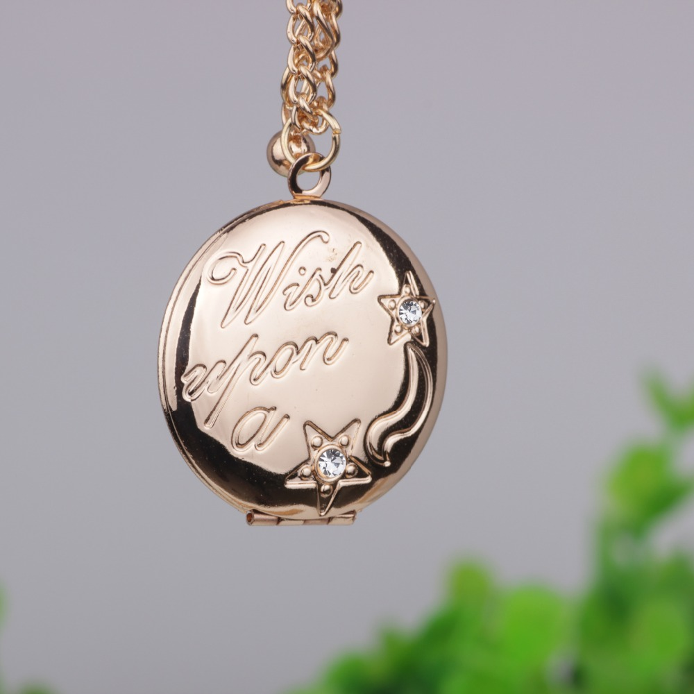 Wish Star Photo Frame Pendant Necklace Creative Can Open and Close Long Necklaces Jewelry Best Gift For Your Friend YP2721 image