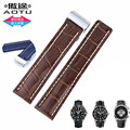 AUTO Deployment Buckle Clasp Crocodile Pattern Calf Skin Genuine Leather Watch Band Watch Strap for Breitling 22/24mm+FREE TOOLS