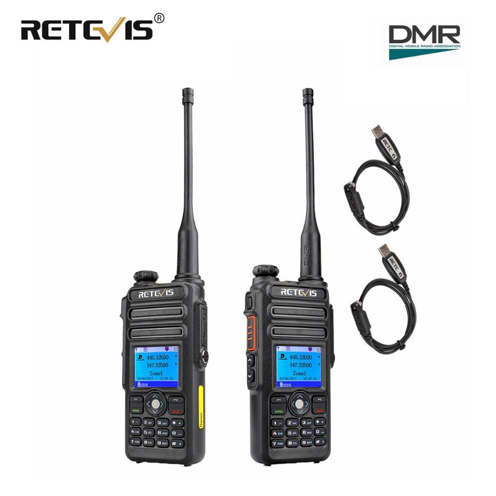 2pcs Retevis RT82 Dual Band DMR Digital Walkie Talkie VHF UHF (GPS) IP67 Waterproof Portable Ham Radio Amador Hf Transceiver Dmr
