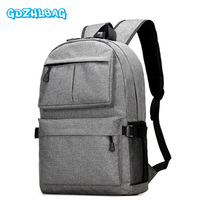 2017 New Canvas Backpack Anti-theft College Students School Backpack USB Charging Design Bags for Teenager Travel Backpack B198