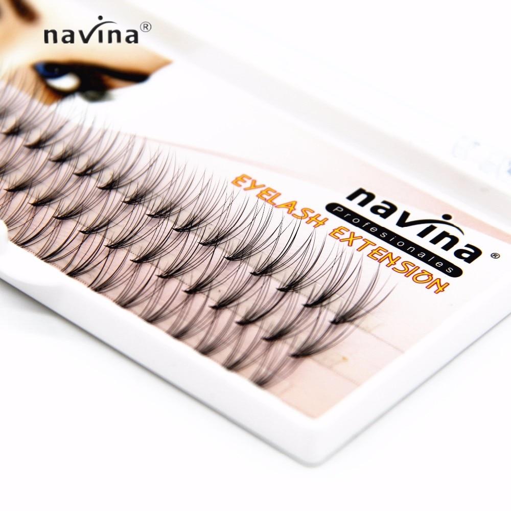 NAVINA 500/pcs nouveauté cils de luxe 6d naturel vison cheveux soie cils extensions de cils faux cils 0.07 épaisseur - 3