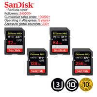 Carte SD SanDisk Extreme PRO 32 go SDHC 95 mo/s 64 go 128 go 256 go SDXC UHS-I U3 Class10 170 mo/s cartes mémoire Flash carte mémoire SD