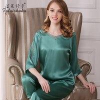 Женские шелковые пижамные комплекты сплошной цвет зеленый 3 цвета модные брендовые пикантные повседневные женские шелковые пижамы женские