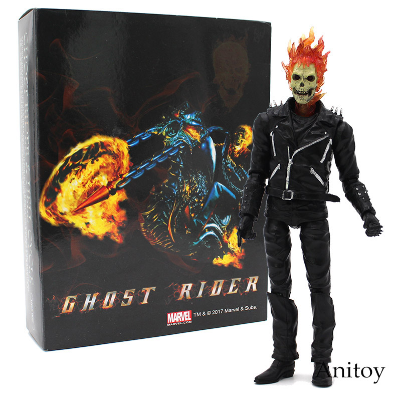 Marvel Ghost Rider Johnny Blaze ПВХ фигурку Коллекционная модель игрушки 23 см