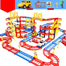 Здесь можно купить  Rail Car Assembly Hot Wheels Brinquedos Electric Speed Track Educational Toys For Children Diy Race Track With Retail Box  Diecasts & Toy Vehicles