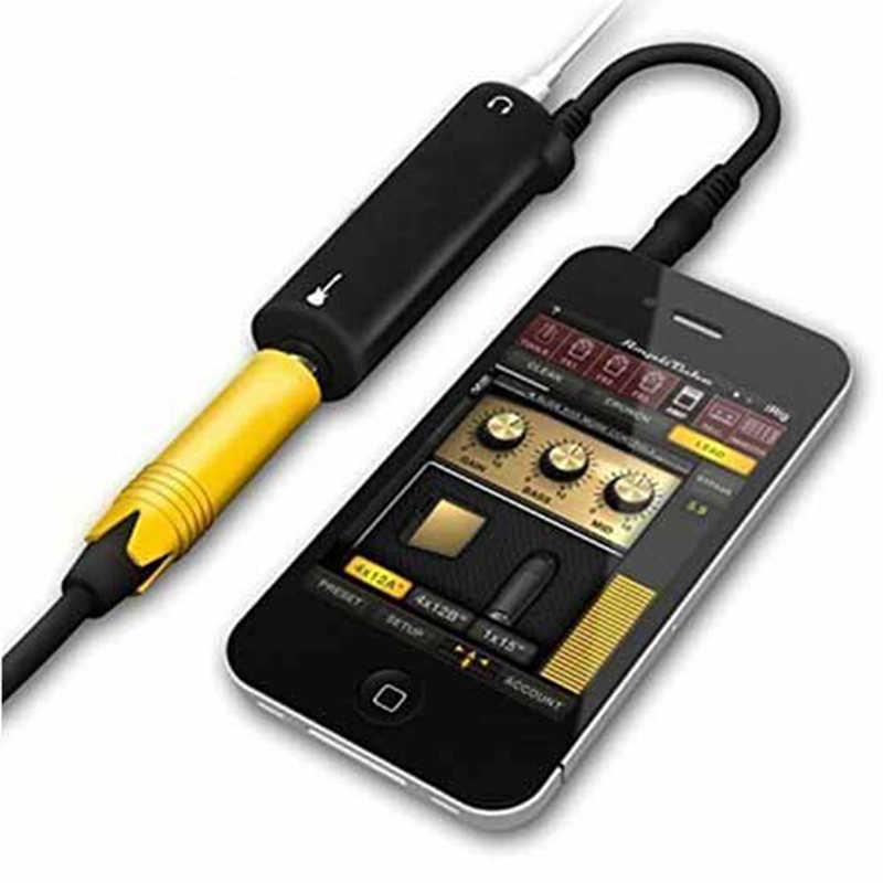 1 adet kulesi gitar bağlantı ses arabirimi sistemi kayıt AMP amplifikatör yazılımı efektleri Pedal kablo dönüştürücü adaptör jakı