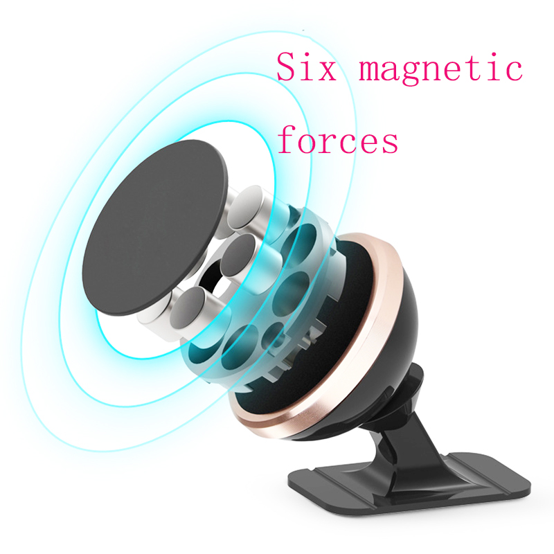 Universal Magnetic Car Phone Holder Mounted On The Car Dashboard Rotating Super Strong Magnetic Phone Holder For iPhone X 7 XS in Phone Holders Stands from Cellphones Telecommunications